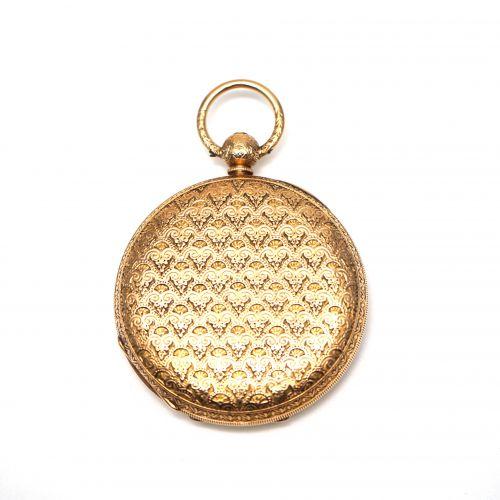 18K Gold Chronometer Hunter Case Pocket Watch
