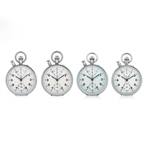 A Set of Four Omega Split-seconds Chronograph Pocket Watches