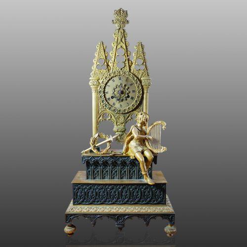 French Ormolu Spire-Form Mantel Clock