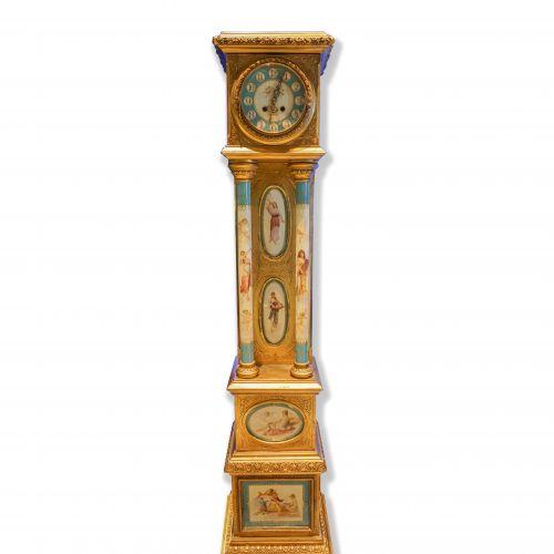 German Gustav Becker Grandmother Clock