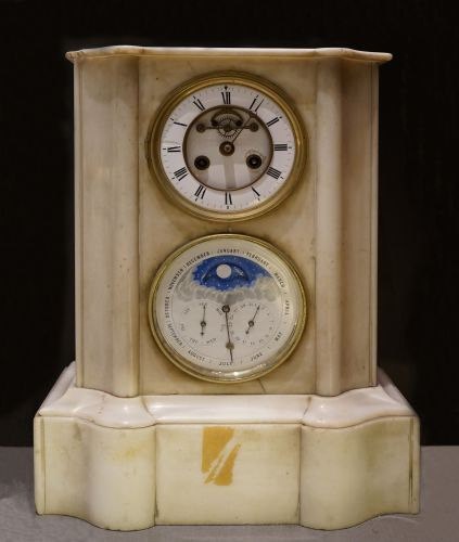 19th Century French Gesso Mantel Clock