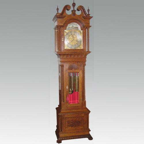 American Nine Tubular Bells Tall Case Clock