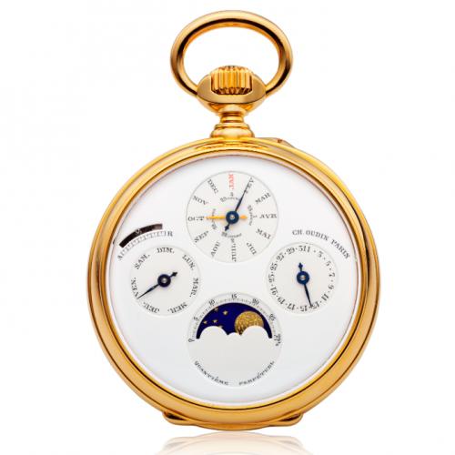 Charles Oudin雙面顯示萬年曆懷錶