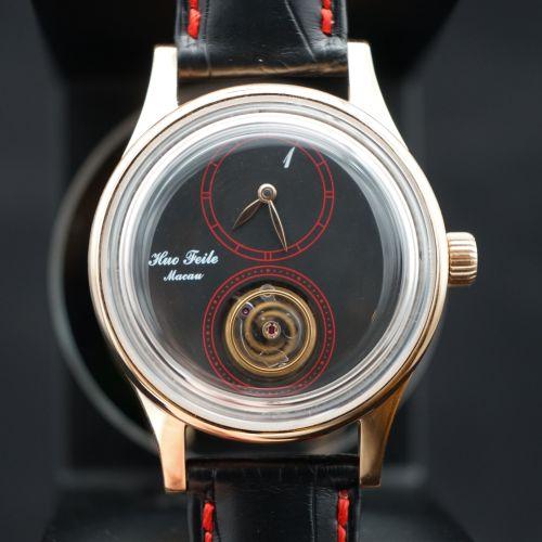 霍氏1號懸浮陀飛輪腕錶原型(玫瑰金)