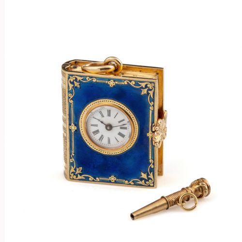 18K黄金珐琅聖經懷錶