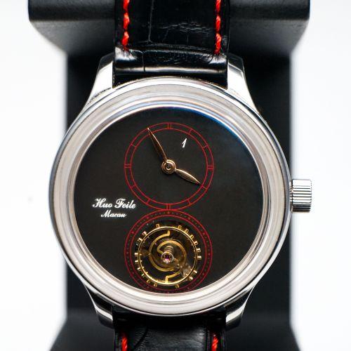 霍氏1號作品鋼殼懸浮陀飛輪腕錶