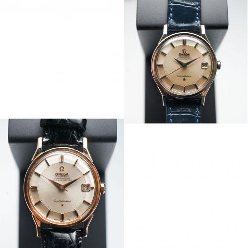 兩枚歐米茄曲耳八卦腕錶