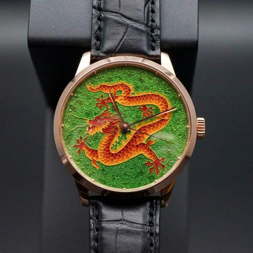 18K金掐絲琺瑯腕表