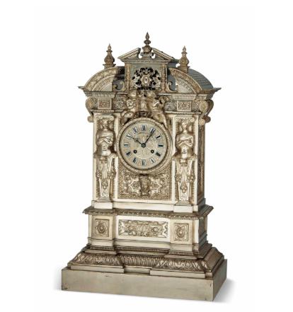 十九世纪法国铜镀银座钟
