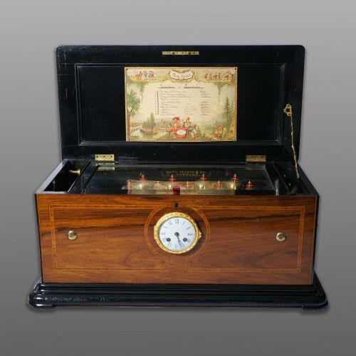 十九世纪钟表联动九铃八音盒