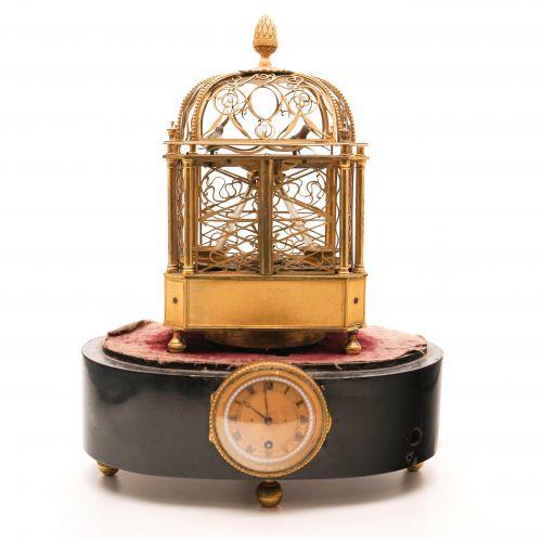 雅克德罗鸟笼钟