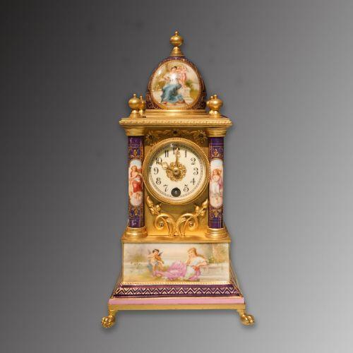 十九世纪法国手绘瓷面钟