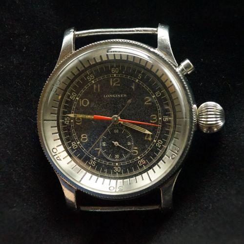 浪琴单按飞返计时腕表(日本军表)