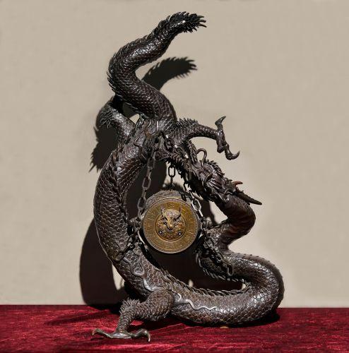 19世纪中国青铜龙钟